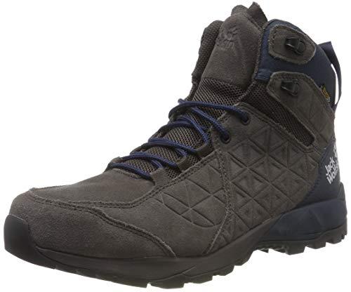 Jack Wolfskin Herren Cascade Hike LT Texapore MID M Trekking-& Wanderstiefel, Grau (Dark Steel/Dark Blue 6054), 42 EU