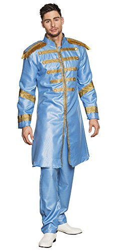 Boland-BOL83681 Disfraz de Sargento Pop para Adulto, color azul claro, 50/52 (Ciao Srl BOL83681)