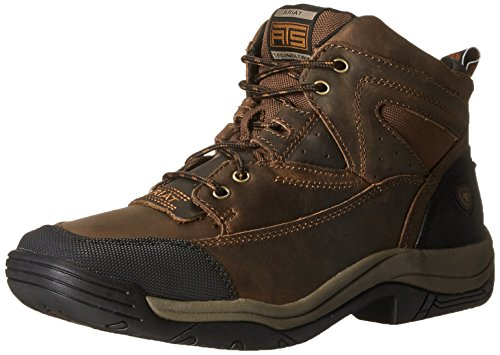 Ariat Men's Terrain Wide Square Toe Hiking Boot, Distressed Brown, 11.5 D US