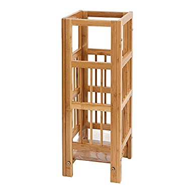 SONGMICS Natural Bamboo Umbrella Stand Rack Canes Alpenstock Holder for Home Office ULUC50N