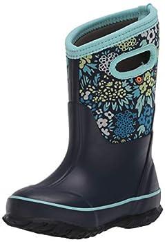 BOGS Classic High Waterproof Insulated Rubber Neoprene Rain Boot Big Nw Garden-Blue 2 US Unisex Little Kid