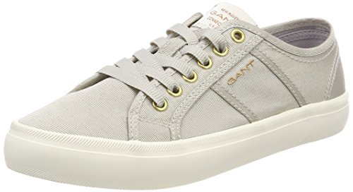 GANT Footwear Damen ZOE Sneaker, Grau (Silver), 37 EU
