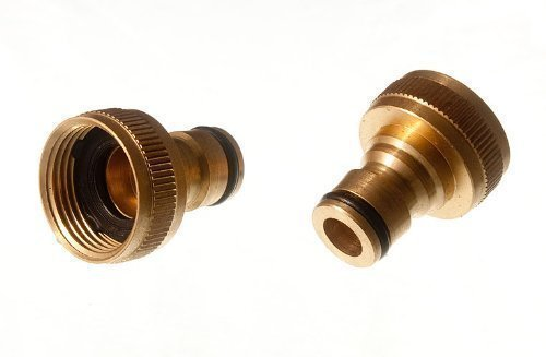 Pack de 3 Tap Adaptor encliquetage 13mm Raccord de tuyau en laiton massif