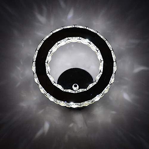 XLTT Diseño Creativo del Anillo Lámpara De Cristal Dormitorio Lámpara De Pared De Metal Sala De Estar Comedor Decoración De La Pared Iluminación Lámpara De Pared
