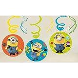 amscan 9907319 - Espirales Decorativas de los Minions de Despicable
