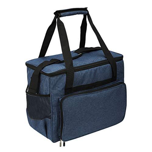 VANOLU MáQuina de Coser Organizador de Almacenamiento Bolsa de MáQuina de Coser Bolsa de Mano de Viaje para la MayoríA de MáQuinas de Coser y Accesorios EstáNdar Azul