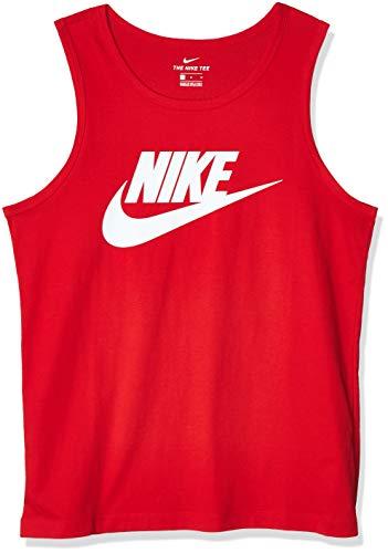 Nike Herren M NSW Tank Icon Futura Hemd, Rot/weiß (University Red/White), L