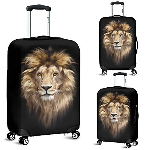 Lion Head Luggage Suitcase Cover Protector Decor Lion Lover Gift Item (Large)