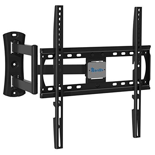 TV Wandhalterung, schwenkbar neigbar TV Halterung mit strapazierfähig Verlängerungsarmen für Flach und Curved 26-55 Zoll Fernseher bis zu 45 kg, max. VESA 400x400mm TV Wand Halterung