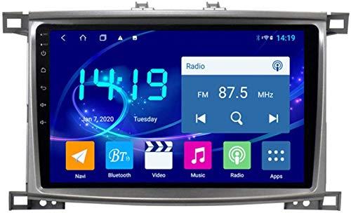AEBDF Android 9.1 NavegacióN EstéReo para AutomóVil para Toyota LC100 2005-2007,9 Pulgada Sat Nav Touch Touch Pantalla Bluetooth Player Multimedia Bluetooth