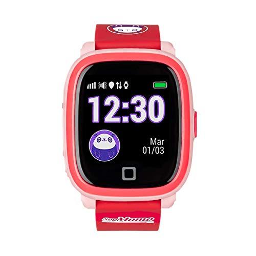 SoyMomo H2O Intelligente Uhr für Kinder mit GPS und SOS-Knopf, Handy für Kinder mit SIM-Kartenslot um Anrufe und Nachrichten zu ermöglichen, Smartwatch für Kinder mit GPS-Tracker Wasserdicht (Pink)