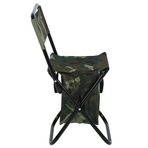 Camouflage Klappstuhl, Stahlrohr, 600D Oxford Stoffstuhl, Outdoor Camping Camping Stuhl, für Outdoor