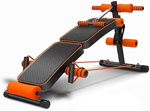 BYCDD Hantelbank Einstellbar, Folding Fitness Bank Sit-ups Bank Presspan Supine Brett Sit-ups Fitnessausrüstung Haus Bauch Vorstand Fitness Stuhl Hantel Bank,Black