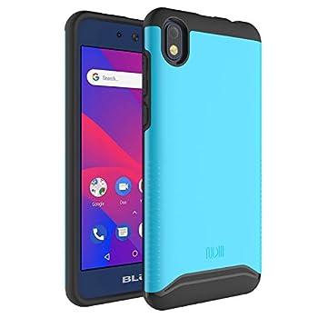 TUDIA Merge Protective Dual Layer Case Designed for BLU Advance 5.2 / BLU Grand M2  Blue
