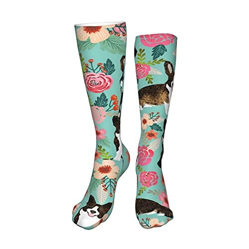 Corgi - Calcetines de compresión para mujer y hombre, 50 cm, para deportes y uso diario