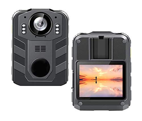 CAMMHD 1296P HD Police Body Camera with 2 Inch Display, Waterproof...