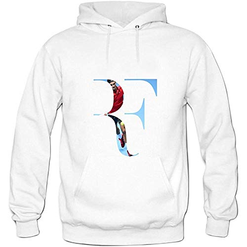 JAMES PERKINS Mens Tennis Player Roger Federer Pullover Sweater Hoodies White