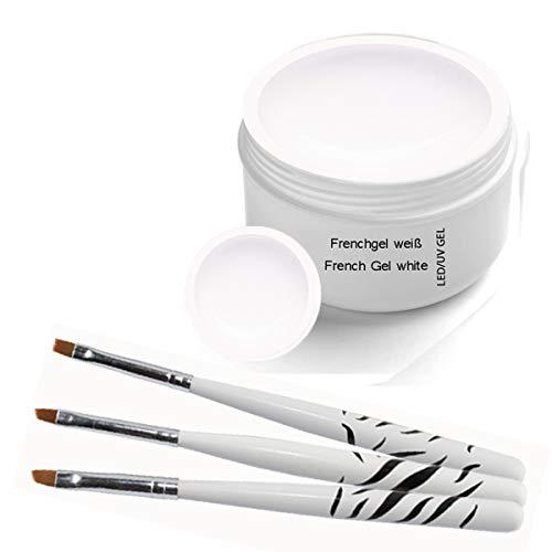 UV Classic Frenchgel white 30ml inkl. 3 tlg Pinselset