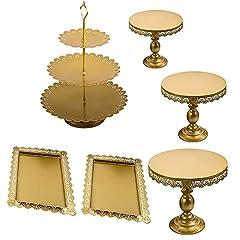 6 Stüke Gold Kuchenständer Metall