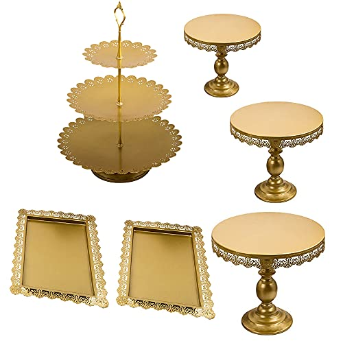 maXpeedingrods 6 Stüke Gold Kuchenständer Metall Bild