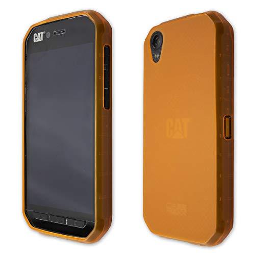 caseroxx TPU-Hülle für Cat S41, Handy Hülle Tasche (TPU-Hülle in orange)