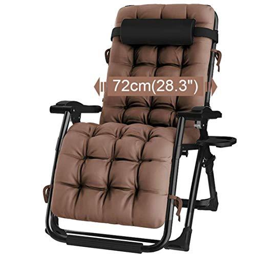 Opklapbare ligstoel, verstelbare bureaustoel Ligstoel Zonnebank Draagbaar Opklapbare campingstoel voor buiten, zwart