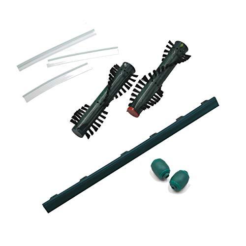 Ersatzteil Set geeignet Vorwerk Elektrobürste EB 370 bestehend aus 1 Paar Ersatzbürsten, 1 Paar Frontrollen, 1 Frontlippe, 3 Hinter-Mitnehmer-Lippen