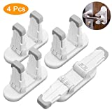 Upgraded Door Lever Locks Child Safety,4 Pack Child Proof Door Lever Handle Lock & Door Locks for Kids Baby Safety Prevent Little Kids from Opening Door, No Screws No Tools Needed Easy Installation