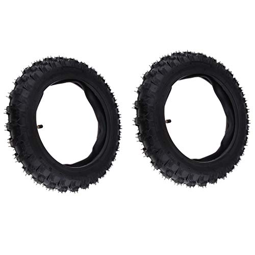 Big Save! Gazechimp 2pcs Motorcycle Scooter Tire and Inner Tube Straight Valve Stem - Size 2.50-10