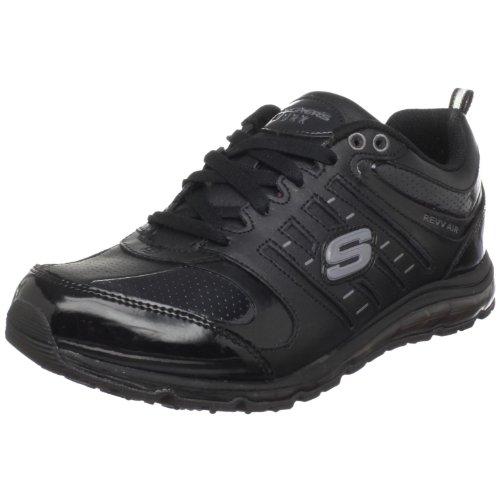 Skechers for Work Women's Air-Revvolution Sneaker, Black, 6.5 B - Medium