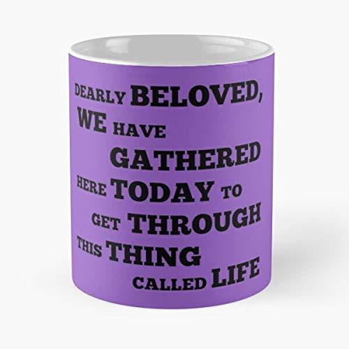 Prince Dealry Beloved Message Purple Mug, Hand Made