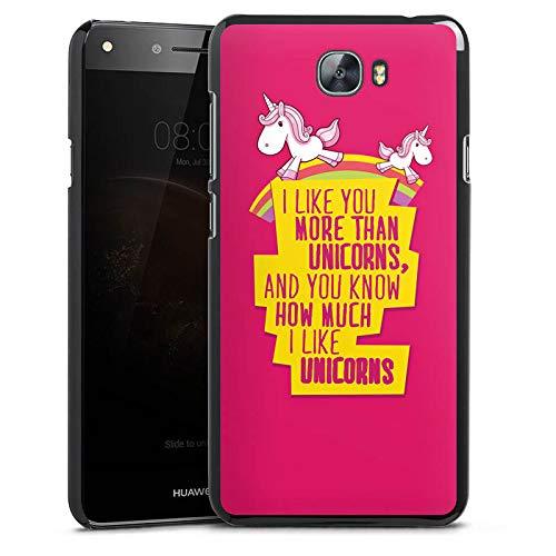 DeinDesign Cover kompatibel mit Huawei Y6 II Compact Hülle Hülle Handyhülle Einhorn Unicorn Phrases