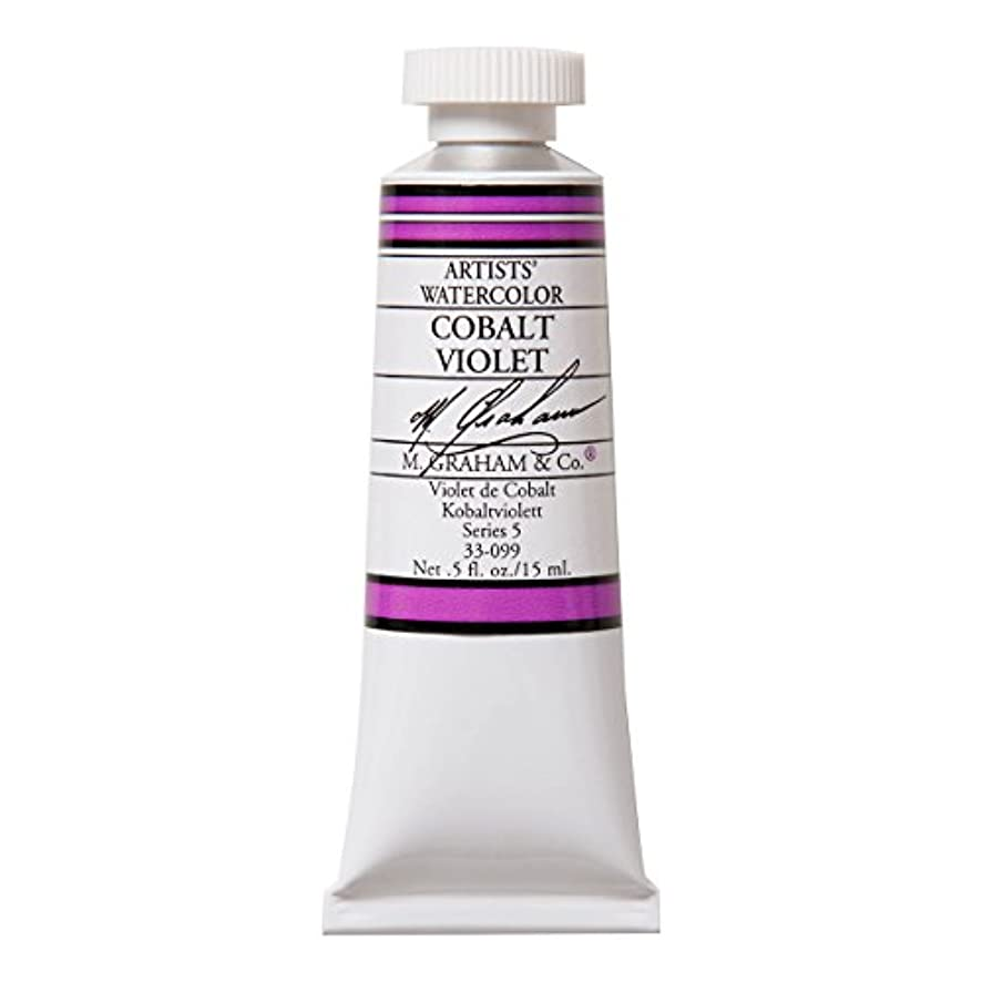 M. Graham 1/2-Ounce Tube Watercolor Paint, Cobalt Violet (33-099)