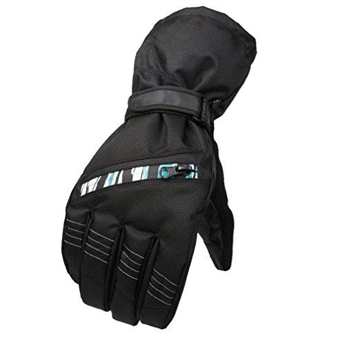 emansmoer Adulte Unisexe Hiver Outdoor Gants de Ski Snowboard Coton rembourré Doublé Polaire Sport Gants de Cyclisme Moto (Taille Unique, Vert)