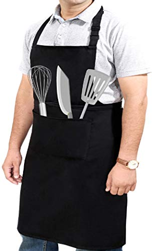 Professional Grade Extra Large XXL Aprons for Women / Men with 2 Pockets for Cooking Work Chef Apron