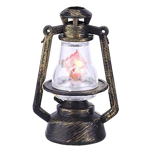 LED Mini Mini luz Linterna Muñeca Casa Lámpara de Aceite Fiesta de Navidad Decoración de la Mesa Miniatura Plástico Accesorios Vintage Simulación Modelo Juguete