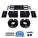 Supreme Suspensions - Full Lift Kit for 2005-2020 Nissan Frontier 3' Front Lift Strut Spacers + 3' Rear Lift Blocks + Square Bend U-Bolts + Axle Shims 2WD 4WD (Black)