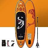 YUESFZ Kayak gonfiabili Cavalletti per Kayak Tavola da Paddle SUP Gonfiabile Marina, Tavola da Surf per Competizione, Canoa Addensata Resistente all'Usura (Color : Orange, Size : 10FT)