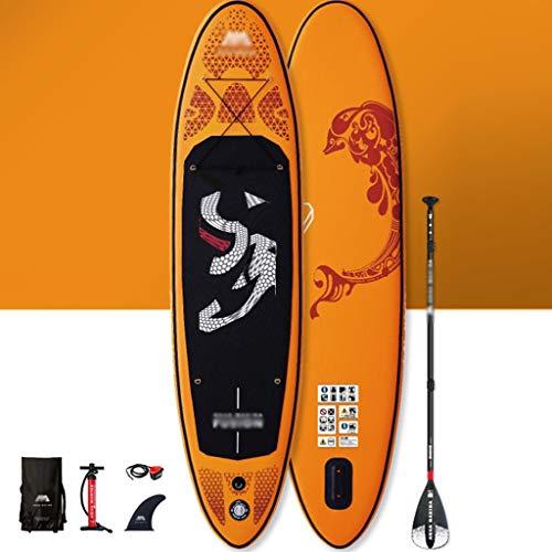 YUESFZ Kayaks y piraguas de mar Kayak Inflable Tabla De Paddle Sup Hinchable Marino, Tabla De Surf para Competición, Canoa Resistente Al Desgaste (Color : Orange, Size : 10FT)