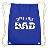 generisch Dirt Bike – Bikes, bicicleta de montaña, Dirt Jump, bicicletas, salto de suciedad, ciclismo, deportistas – Algodón Gymsac, color Azul real., tamaño 37cm-46cm