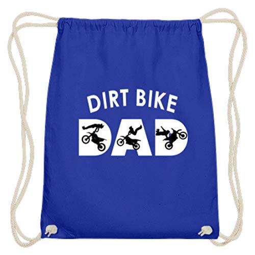 generisch Dirt Bike - Bikes, Mountainbikes, Dirt Jump, Fahrräder, Schmutzsprung, Radsport, Sportler - Baumwoll Gymsac -37cm-46cm-Royales Blau