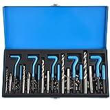 CO-Z 131PC SAE Thread Repair Kit, HSS Drill...