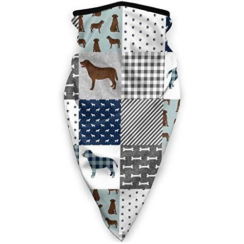 Nonebrand - Colcha de laboratorio pequeño para mascotas de Labrador Retriever de chocolate B Cheater de tela para perro, unisex, variedad, bufanda envolvente, pañuelo para el cuello, polainas para la cabeza, bufanda para el sol