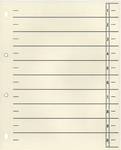 Wekre Trennblatt, Karton (RC), 1-0, 4fach Lochung, geöst, A4, chamois (100 Stück),...
