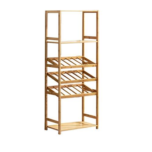 Almacenamiento de botellas de vino Titular Armario bodega de almacenamiento de cajas de vino estante de exhibición del vino de estilo europeo bastidor Suelo de madera gabinete del vino Display Rack es
