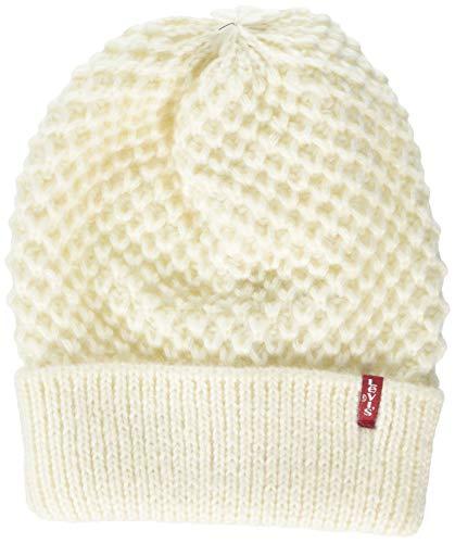 Levi's Damen Classic Knit Beanie Strickmütze, Beige (Cream 20), One Size (Herstellergröße: UN)