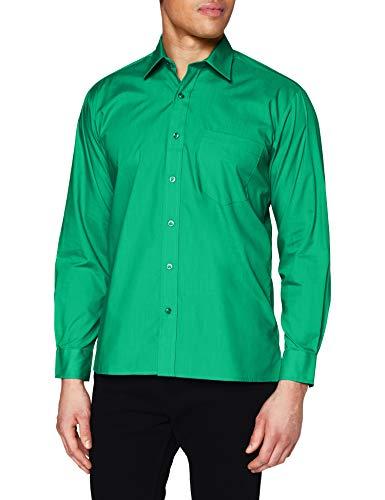"Premier Workwear Poplin Long Sleeve Shirt, Camisa para Hombre, verde (Emerald), Size - 17.5""(44.5cm)"