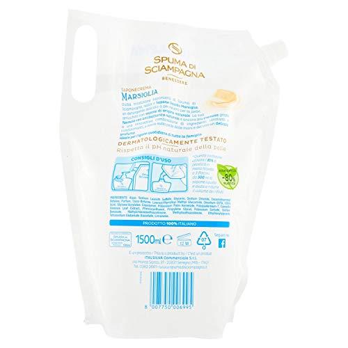 Spuma di Sciampagna Ecoricarica Sapone Liquido Marsiglia 1,5 L