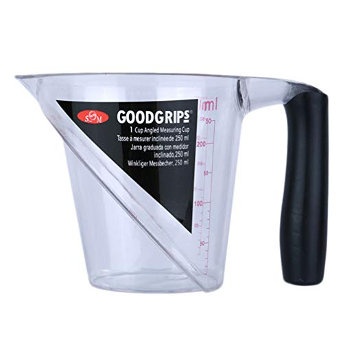 PIXNOR 250 ml plastic maatbeker met schaal transparante maatbeker beker cup voor kapsalon verven kappers permanente golf