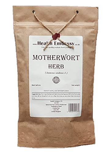 Health Embassy Echtes Herzgespann Tee (Leonurus cardiaca L) / Motherwort Herb Tea, 50g